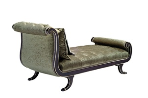Aphrodite Chaise shown with:Button tufted seat and backBombay finishVersailles Leaf finish trim