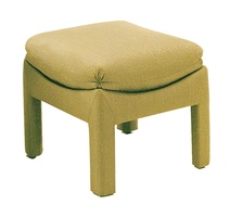 Pouff shown with:Semi-attached kiss pleat cushionUpholstered leg