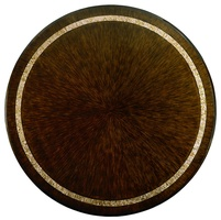 Bolero Dining Table top shown with:Havanafinishwith Ebony paint trimPolished Honey shell decorative inlay