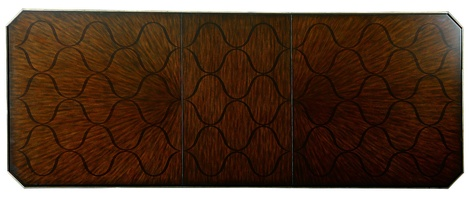 "Bolero Dining Table top shown with:31"" leafContemporary Havana finish"