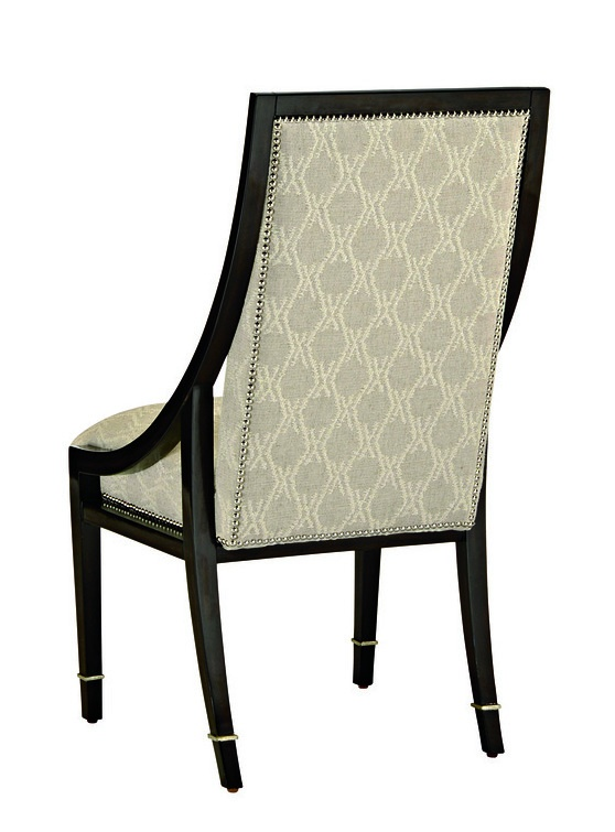 Bolero Side Chair shown with:Tight seat and backBombay finishDeco Silver Leaf finish trimSilver nailhead frame trim
