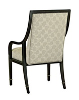 Bolero Arm Chair shown with:Tight seat and backBombay finishDeco Silver Leaf finish trimSilver nailhead frame trim