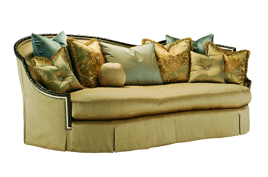 Camilau0026nbsp;Sofa Shown With: Boxed Bench SeatWaterfallu0026nbsp;skirt With Box  Pleated Front,