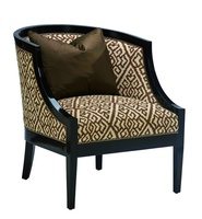 Cameron Chair shown with:Tight seat and backCaviar finishAntique Brass nailhead frame trim