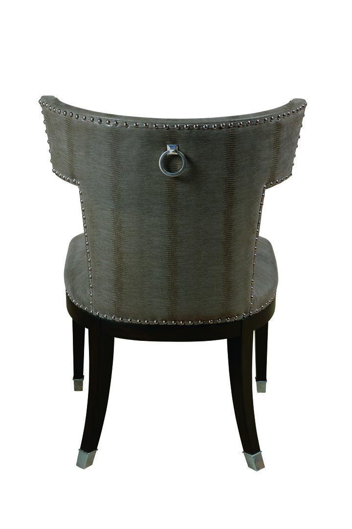 Design Folio Side Chairshown with:Tight seat and backBombayfinishSilver nailheadframe trimPolished Nickel hardware