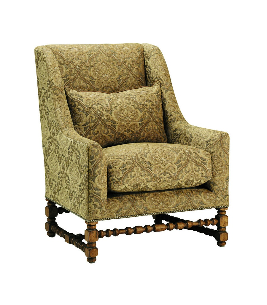 GibsonChair shown with:Boxed seat cushionTight backNailhead frame trimExposed frame available in selection of finishes