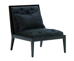 Greenwich Chair shown with:EbonyfinishSpaced Astorianailhead frame trim over tape