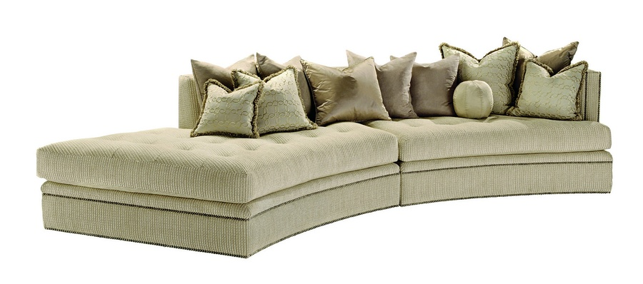 Galaxy 2-Piece Sofa shown with: Boxed bench seatBuilt-to-the-floor base Silver Star nailhead frame trim