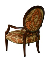 Hollis Lounge Chair shown with:Tight seat and backHavana finishBronze Star nailhead frame trim
