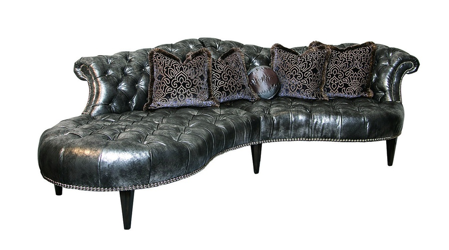 Ingrid 2-Piece Sofa shown with:Button tuftedseat and backBuilt-to-the-floor base with exposed legs in Bombay finishMerengue nailhead frame trim