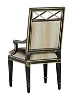 Ionia Arm Chair shown with:Tight seat and backBombay finishGunmetal nailhead frame trim