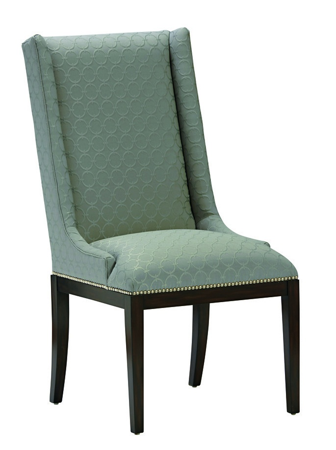 Laguna Beach Side Chair shown with:Tight seat and backBombay finishMerengue nailhead frame trim