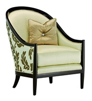 Largo Chair shown with:Boxed seat cushionBombay finishSilver nailhead frame trim