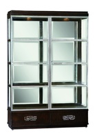 Lake Shore Drive Display Cabinet shown with:Bombay finishStainless Steel door framePolished Nickel hardware