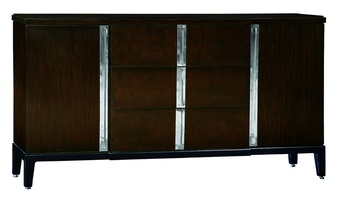 Lake Shore Drive Dresser shown with:Bombay finishContrast base in Caviar finishStainless Steel hardware