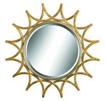 Lake Shore Drive Mirorr shown with:Burnished Silver finish on inner round frameDecorative metalwork available in selection of finishesClear mirror with beveled edge