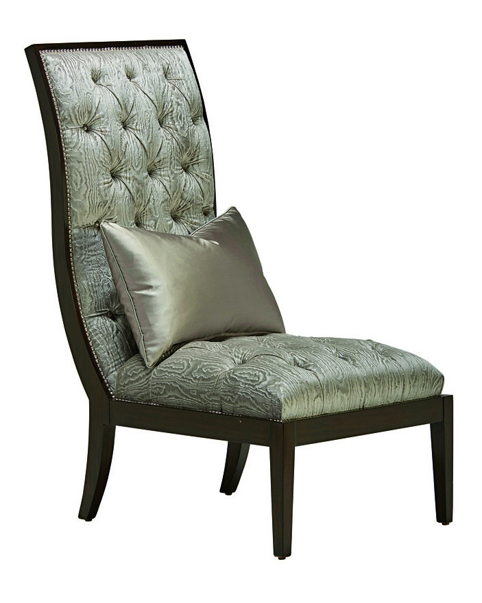 Mallory Lounge Chair shown with:Button tufted seat and backBombay finishMerenguenailhead frame trim