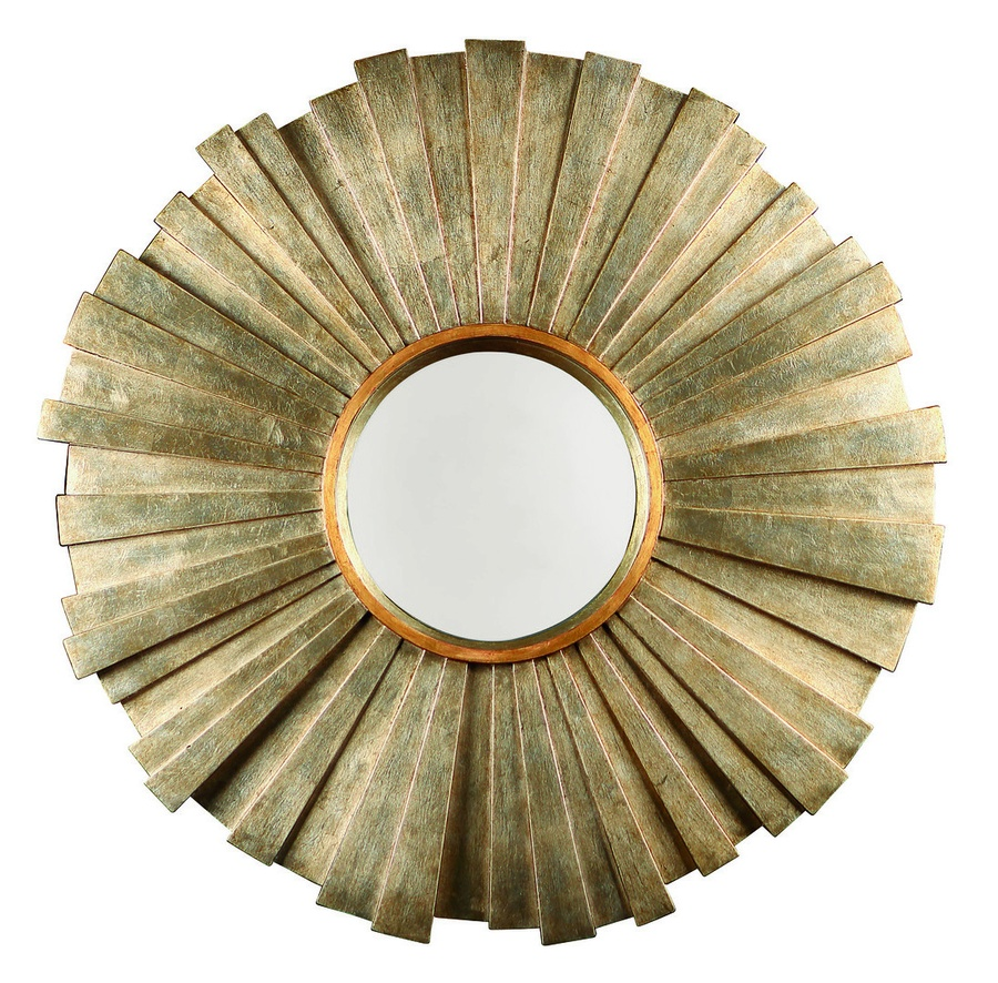 Malibu Mirror shown with:Burnished Silver finishVenetian Gold Leaf finish trimClear mirror
