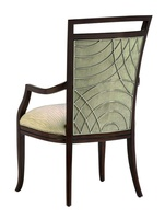 Malibu Arm Chair shown with:Tight seat and backKona finishStainless Steel back grillSilver nailhead frame trim