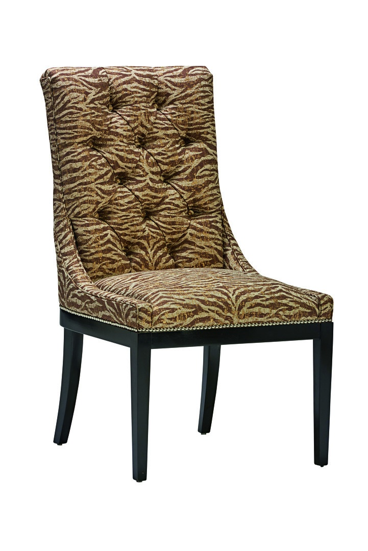 MulhollandSide Chairshown with:Tight seatButton tufted backCaviarfinishSilvernailhead frame trim