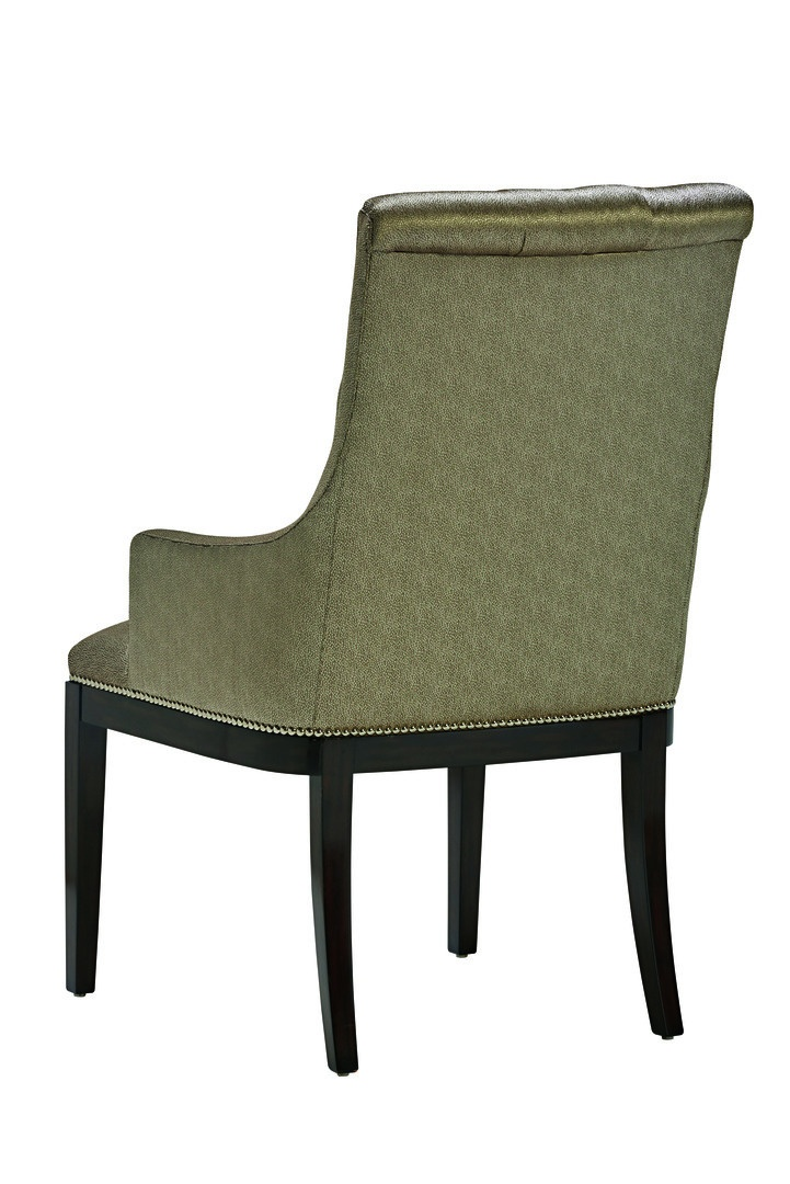 Mulholland Side Chair shown with:Tight seatButton tufted backBombay finishSilver nailhead frame trim