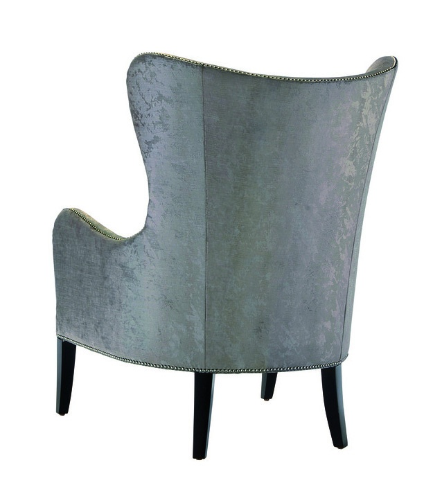 Nelson Chair shown with:Boxed seat cushionSumatra finishSilver nailhead frame trim