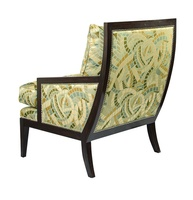 Nolan Chair shown with:Boxed seat cushionBombay finishSilver nailhead frame trim