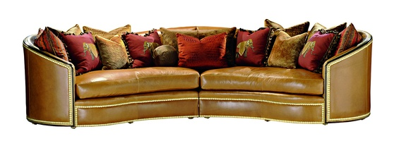 Odessa 2-PieceSofa shown with:Boxed bench seatBuilt-to-the-floor baseHavana finishVenetian Gold Leaffinish trimZennailhead frame trim