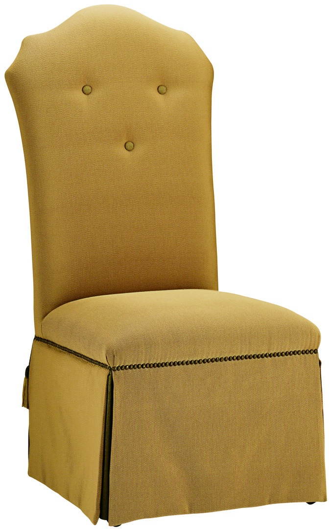 OperaSide Chairshown with:Tight seatTight back with button detailWaterfall skirtMottlednailhead frame trimAccessory tassel ties