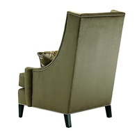 Parker Lounge Chair shown with:Boxed seat cushionBombay finishSilver nailhead frame trim