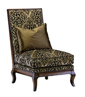 Persephone Lounge Chairshown with:Semi-attached boxed seat cushionTightbackOld World OxfordfinishBronze Starnailhead frame trim