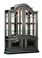 Piazza San Marco Display Cabinet shown with:Old World Sumatra finish Versailles Leaf trimContrast interior in Briar finishDecorative metalwork in Antique Silver finishAntique Nickel hardware