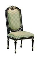 Piazza San Marco Side Chair shown with:Tight seat and backOld World Orleans finishVersailles Leaf finish trimSilver Star nailhead frame trim
