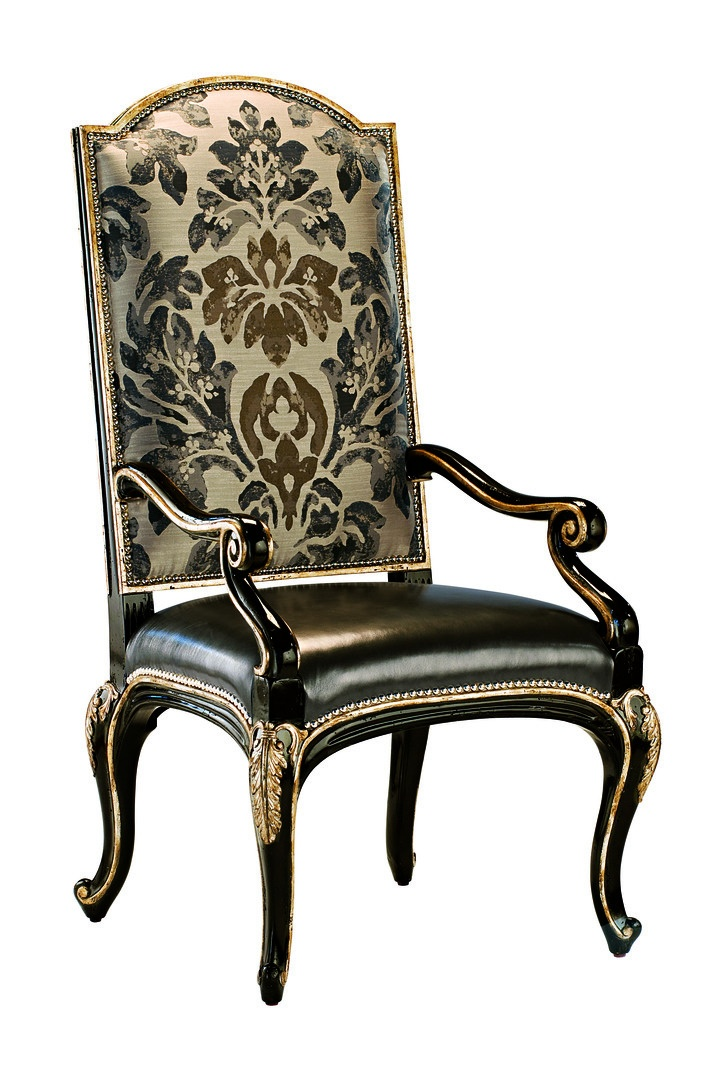 Piazza San Marco Arm Chair shown with:Tight seat and backOld World Sumatra finishVersailles Leaf finish trimSilver nailhead frame trim