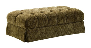Richmond Ottoman shown with:Button tufted seatDeep skirt