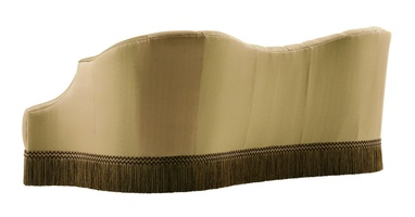 Scarlett Sofa shown with:Boxed bench seatButton tufted backBullionSilvernailhead frame trim