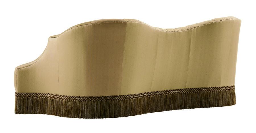 Scarlett Sofa shown with: Boxed bench seatButton tufted backBullionSilvernailhead frame trim
