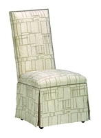 Sinatra Side Chair shown with:Tight seat and backDeep skirtSilver nailhead frame trim