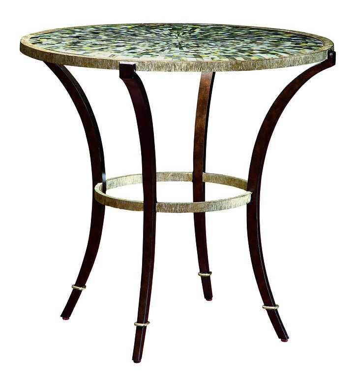 Sonoma Endu0026nbsp;Table Shown With:Burnished Silver Finish On BaseBronze  Finish On Legs WithBurnished