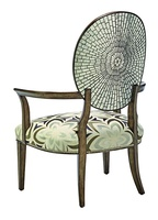 Sonoma Lounge Chair shown with:Tight seat and backBronzed Silver finishOutside back with Antique Mirror TilesSilver nailhead frame trim