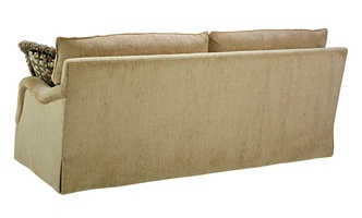 Santa Barbara Sofa (Fitted Back) shown with:(2) Seat CushionsEnglish ArmWaterfall skirt(2) Optional additional pillows