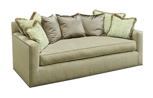 Santa Barbara Sofa (Multi Back) shown with:Boxed Bench SeatTrack ArmBuilt-to-the-floor baseNailhead frame trim