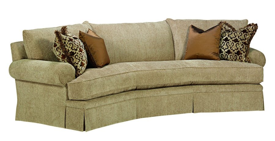 Santa Barbara Wedge Sofa (Fitted Back) shown with:Straight cushion bench seatEnglish ArmPlinth base with Bronzed Brass finish(2) Optional additional pillows