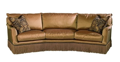 Santa Barbara Sofa (Fitted Back) shown with:(3) Boxed straight seat cushionsEnglish ArmBullionBronze Star nailhead frame trim