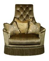 SultanChair and A Half shown with:Boxed seat cushionBullionBronze Starnailhead frame trim