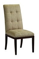 SilverlakeSide Chairshown with:Box quilted seat and backContemporary HavanafinishSilvernailhead frame trim