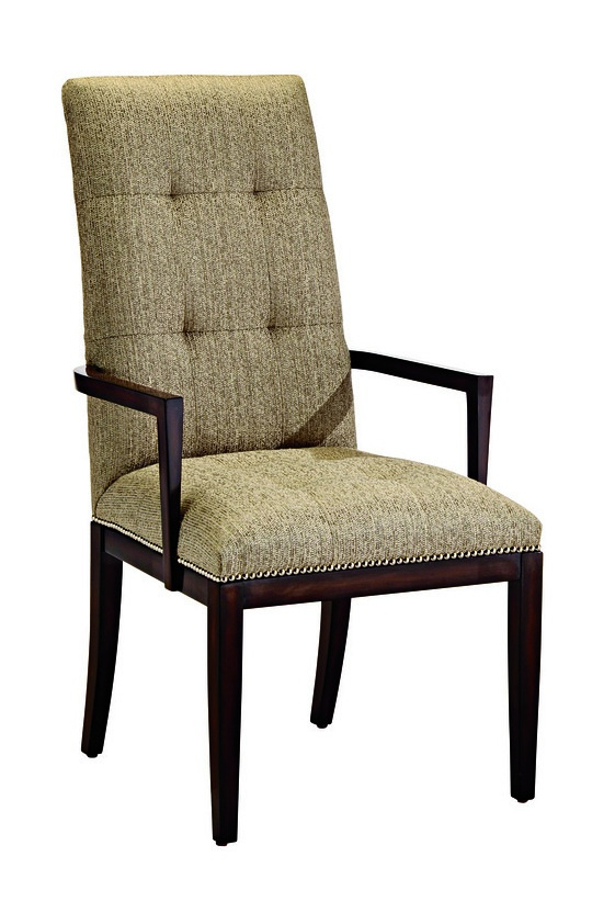 Silverlake Arm Chair shown with:Box quilted seat and backContemporary Havana finishSilver nailhead frame trim