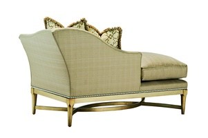 Tango Chaise shown with:Boxed bench seatMedici finishMerengue nailhead frame trim