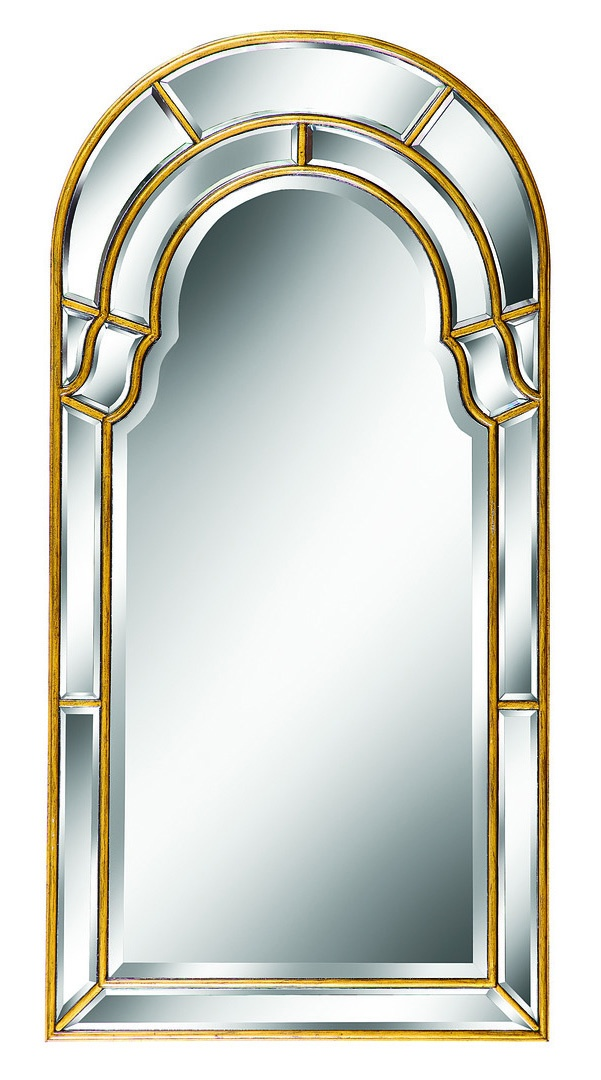 Trianon Court Mirror shown with:Antique Gold finishClear mirror with beveled edge