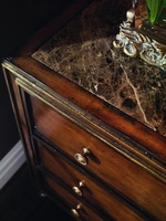 Design Folio Nightstand shown with:Signature finish with Aged Gold Leaf finish trimPolished Madeira Marble topTraditional LegBeaded Knob decorative hardware in Antique Brass finish